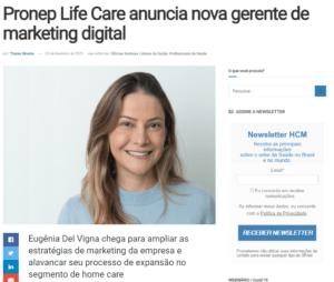 Pronep Life Care anuncia nova gerente de marketing digital