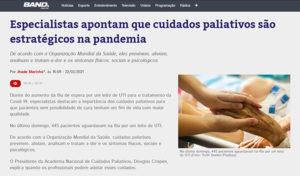 Especialistas apontam que cuidados paliativos são estratégicos na pandemia