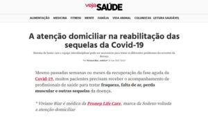 inserção na imprensa A atenção domiciliar na reabilitação das sequelas da Covid-19