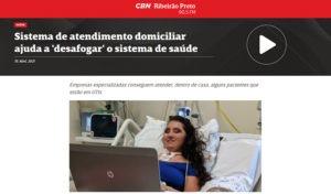 inserção na rádio CBN, de Ribeirão Preto