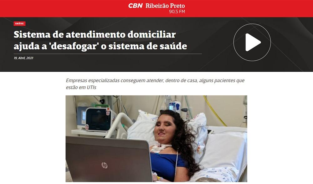 Sistema de atendimento domiciliar é o foco da entrevista na rádio CBN, de Ribeirão Preto