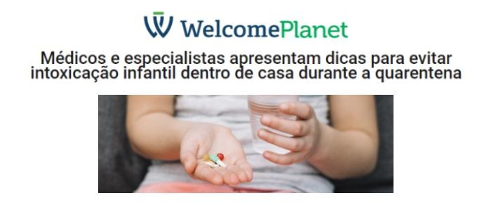 Inserção sobre intoxicação infantil na quarentena